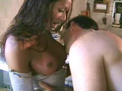 Ebony tranny and guy do mutual oral