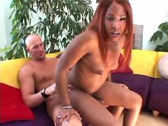 Ebony shemale crazy fucked by freak