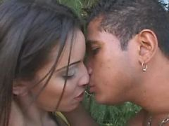 Beautiful hot tranny fucked by harsh bloke outdoor